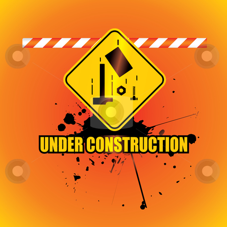 Under construction background stock vector clipart, Under construction background - vector illustration by ojal_2