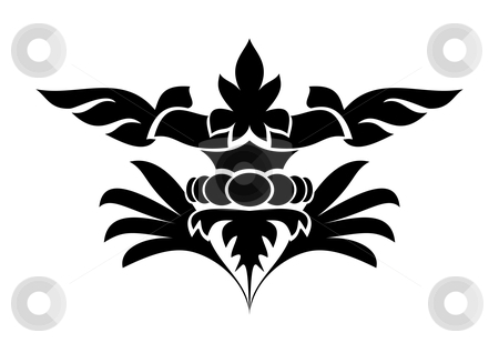 Design element stock vector clipart, Floral design element - vector illustration by ojal_2