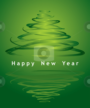 Vector christmas tree stock vector clipart, Vector christmas tree - see more in my portfolio by Ilyes Laszlo