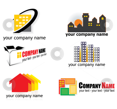 Real estate logos stock vector clipart, Real estate logo elements - vector illustration by ojal_2