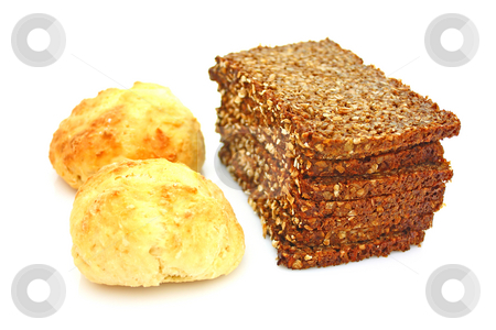 Bread and buns stock photo, Bread and buns by Julian Weber
