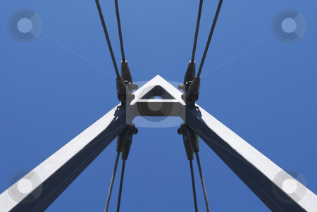 Wide Suspension A stock photo, Royalty Free Stock Image of Suspension of bridge forming the letter A by Paul Inkles