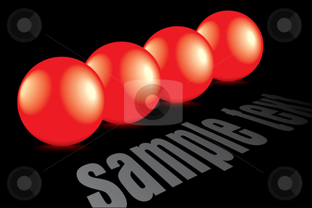 Shiny 3d red bubbles with reflection stock vector clipart, Shiny 3d red bubbles with reflection - vector illustration by ojal_2