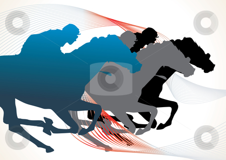 Horse race stock vector clipart, Detail horse silhouette collection - vector illustration by ojal_2