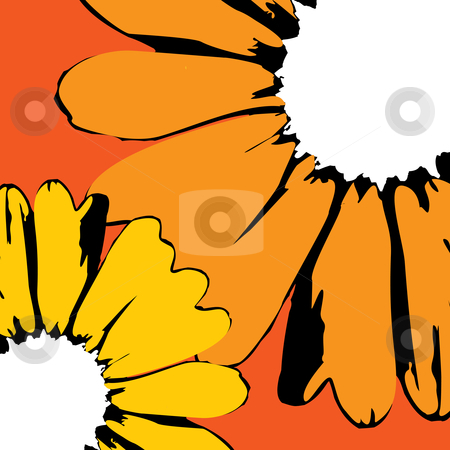 Vector sunflowers stock vector clipart, Sunflowers for backgrounds - vector illustration by ojal_2