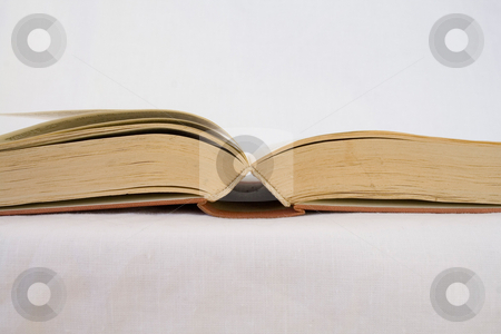 Opened book stock photo, Opened book on white background by ojal_2