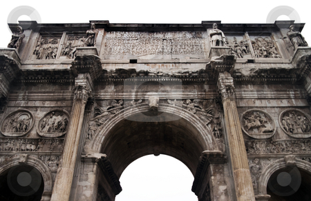 Arcus Titi Gate stock photo, The Roman Forum at the heart of Rome (Roma) Italy by Kevin Tietz