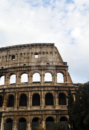 Coliseum stock photo, The historic Roman coliseum located in Rome (Roma) Italy by Kevin Tietz