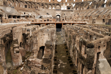 Coliseum Floor stock photo, The historic Roman coliseum located in Rome (Roma) Italy by Kevin Tietz