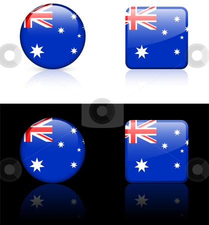 World Flags: Australia stock vector clipart, Original vector World Flags buttons by L Belomlinsky