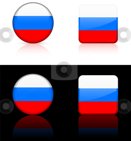 World Flags: Russia stock vector clipart, Original vector World Flags buttons by L Belomlinsky