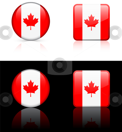 World Flags: Canada stock vector clipart, Original vector World Flags buttons by L Belomlinsky