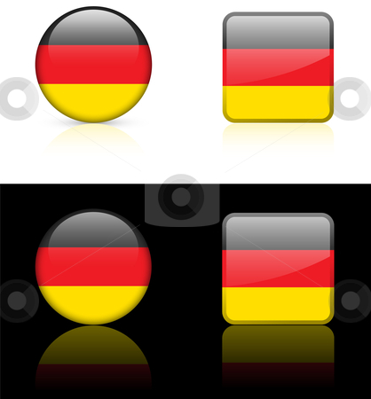 World Flags: Germany stock vector clipart, Original vector World Flags buttons by L Belomlinsky