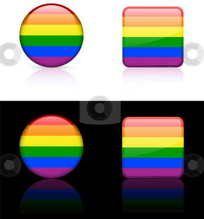 World Flags: Gay pride stock vector clipart, Original vector World Flags buttons by L Belomlinsky