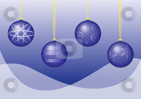 Baubles Vector stock vector clipart, Blue Baubles Vector - Cutcaster Exclusive by John Teeter