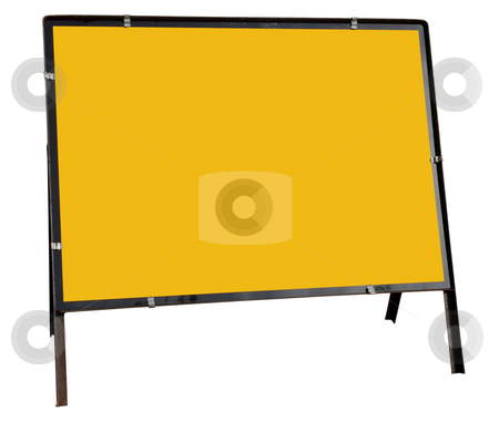 Blank yellow British road sign isolated on white. stock photo, Blank yellow British road sign isolated on white. by Stephen Rees