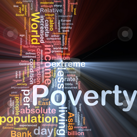 Poverty word cloud box package stock photo, Software package box Word cloud concept illustration of income poverty by Kheng Guan Toh