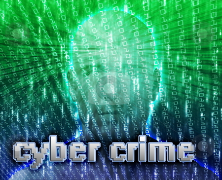 Online crime stock photo, Cyber crime online fraud identity theft illustration by Kheng Guan Toh