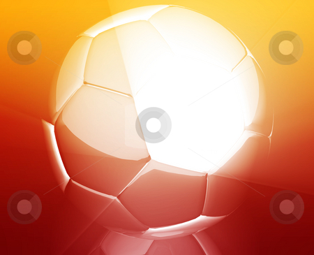 Soccer ball wallpaper stock photo, Shining modern soccer ball abstract wallpaper background by Kheng Guan Toh