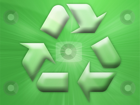 Recycling eco symbol stock photo, Recycling eco symbol illustration on abstract design by Kheng Guan Toh