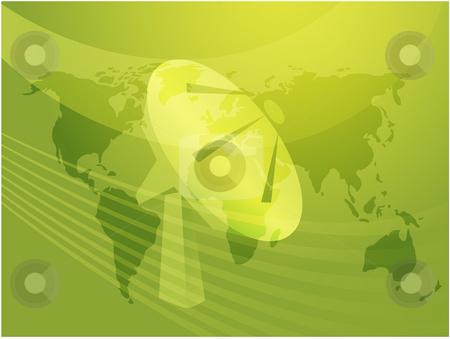 Satellite dish stock photo, Satellite dish clipart illustrating advanced tele communications by Kheng Guan Toh