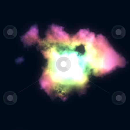 Star nebula stock photo, Space nebula starfield  illustration of outerspace starry sky by Kheng Guan Toh