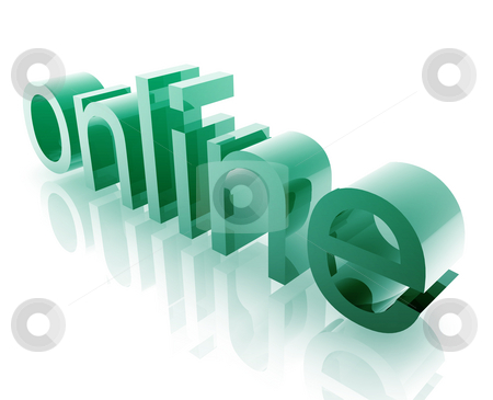 Online internet stock photo, Internet online word graphic, with metal chrome style by Kheng Guan Toh