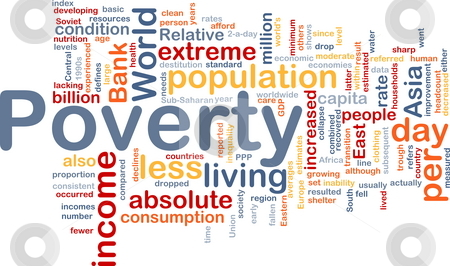 Poverty word cloud stock photo, Word cloud concept illustration of income poverty by Kheng Guan Toh