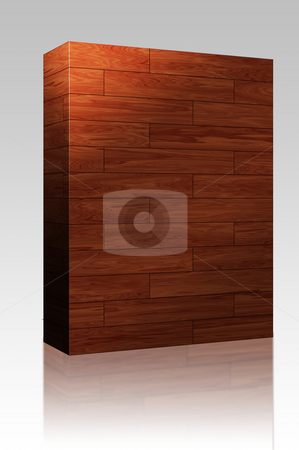 Wooden parquet tiles box package stock photo, Software package box Wooden parquet flooring surface pattern texture seamless background by Kheng Guan Toh