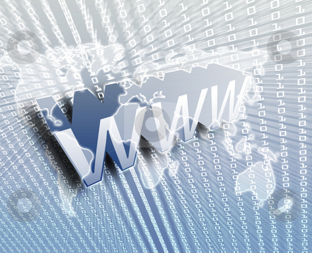 WWW Internet stock photo, WWW Internet, online digital abstract wallpaper illustration by Kheng Guan Toh
