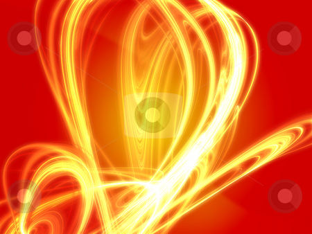 Wavy glowing colors stock photo, Abstract wallpaper illustration of wavy flowing energy by Kheng Guan Toh