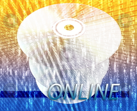 Online digital media stock photo, Digital media disc for online movies, music, entertainment by Kheng Guan Toh