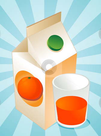 Orange juice stock photo, Orange juice carton with filled glass illustration by Kheng Guan Toh