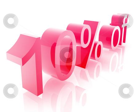 Ten percent discount stock photo, Ten Percent discount, retail sales promotion announcement illustration by Kheng Guan Toh