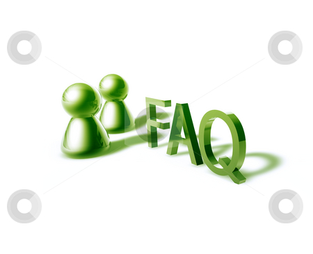 Faq word graphic stock photo, Faq online word graphic, with stylized people icons by Kheng Guan Toh