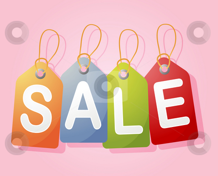 Sale label stock photo, Set of price tags spelling out SALE by Kheng Guan Toh