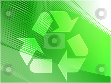 Recycling eco symbol stock photo, Recycling eco symbol illustration of three pointing arrows on abstract design by Kheng Guan Toh