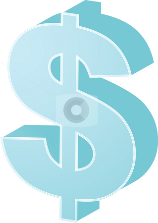 US Dollar stock photo, United States Dollar Currency symbol isometric illustration by Kheng Guan Toh