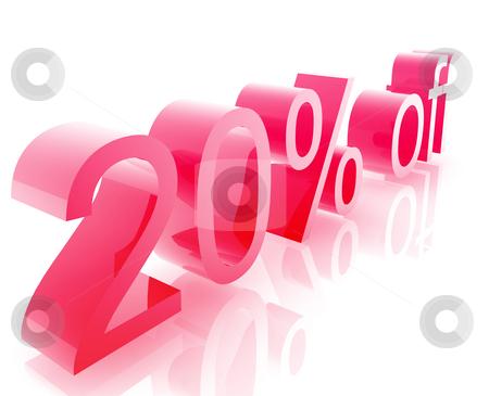 Twenty percent discount stock photo, Twenty Percent discount, retail sales promotion announcement illustration by Kheng Guan Toh