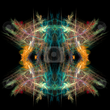 Abstract  symmetrical fractal background stock photo, Abstract  symmetrical fractal background by Mike Price