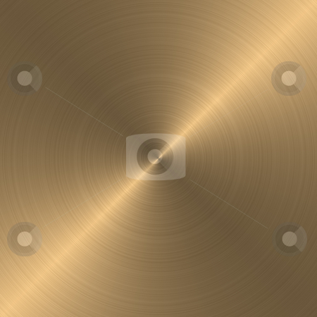 Concentric circles polished metal texture stock photo, Concentric circles polished metal texture in golden shades by Karel Miragaya