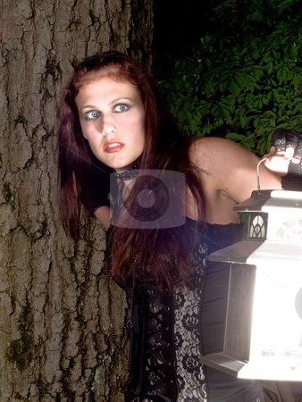 Gothic Girl stock photo, Rachel by Jim DeLillo