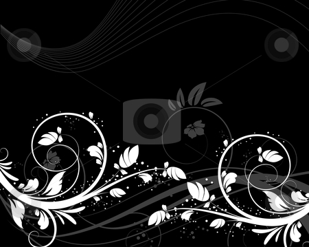 Floral background. stock vector clipart, Abstract vector illustration for design. by Nata Lama