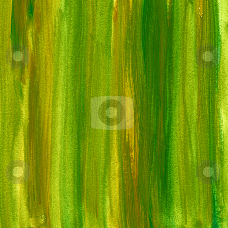 Green and brown painted paper background stock photo, Green and brown watercolor abstract background painted with vertical brush strokes, self made by Marek Uliasz