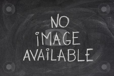 No image available text on blackboard stock photo, Internet browser error message, no image available, handwritten with white chalk on blackboard with eraser smudges by Marek Uliasz