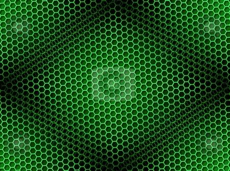 Honeycomb Background Seamless Green stock photo, Seamless green honeycomb on brown background with light effect. by Henrik Lehnerer