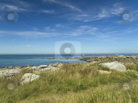 Rocky beach stock photo, Rocky beach by the Atlantic sea in a beautiful summer day. by Ignacio Gonzalez Prado