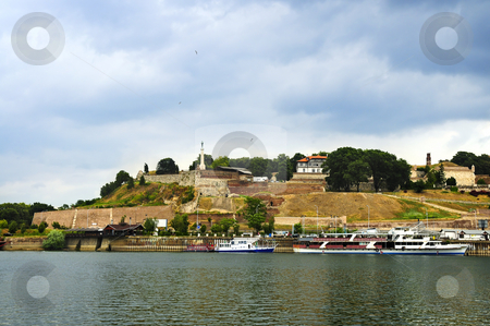 Kalemegdan fortress in Belgrade stock photo, Kalemegdan fortress in Belgrade seen from Danube river by Elena Elisseeva