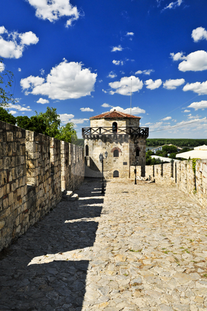 Kalemegdan fortress in Belgrade stock photo, Walls and towers of Kalemegdan fortress in Belgrade Serbia by Elena Elisseeva