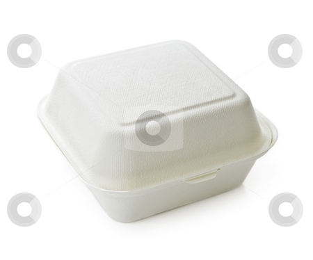 Food container stock photo, Isolated image of disposable take out container by Elena Elisseeva